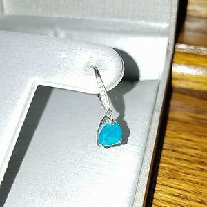 Zales Blue Diamond Earrings